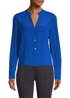 Diane Von Furstenberg Long Sleeve V-Neck Shirt