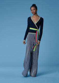 Diane Von Furstenberg Long-Sleeve Wrap Cardigan