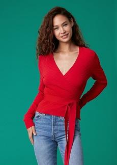 Diane Von Furstenberg Long-Sleeve Wrap Sweater