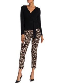 Diane Von Furstenberg Loren Leopard Print Knit Cropped Trousers