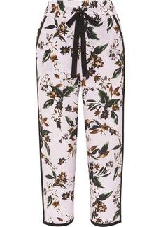 Diane Von Furstenberg Lulu Floral-print Silk-crepe Pants