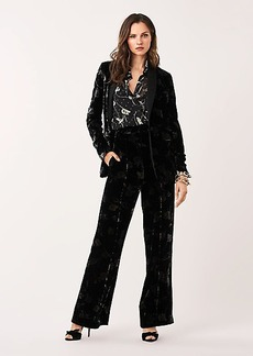 Diane Von Furstenberg Mabel Velvet Straight-Leg Pants