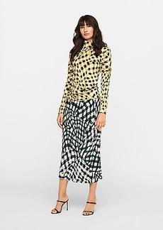 Diane Von Furstenberg Mae Eco-Crepe Midi Skirt