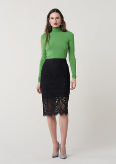 Diane Von Furstenberg Lillian Lace Pencil Skirt