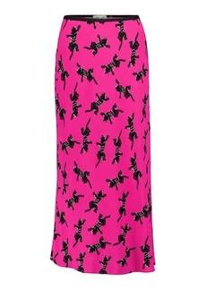 Diane Von Furstenberg Mae printed crêpe midi skirt
