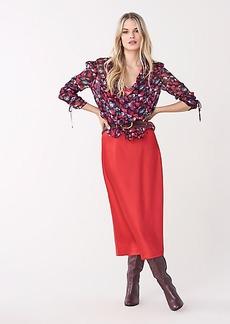 Diane Von Furstenberg Mae Satin Midi Skirt