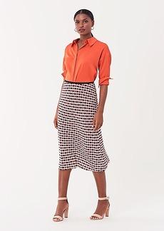 Diane Von Furstenberg Mae Stretch-Georgette Midi Skirt