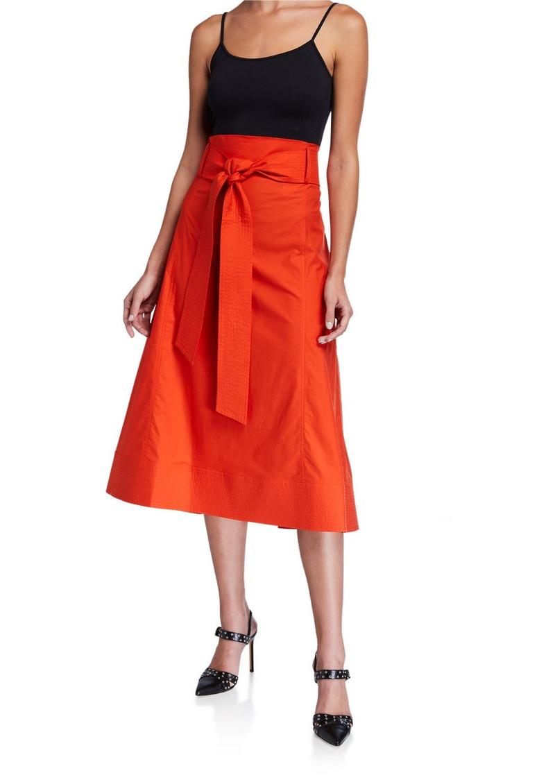 Diane Von Furstenberg Maggie Belted Midi Skirt