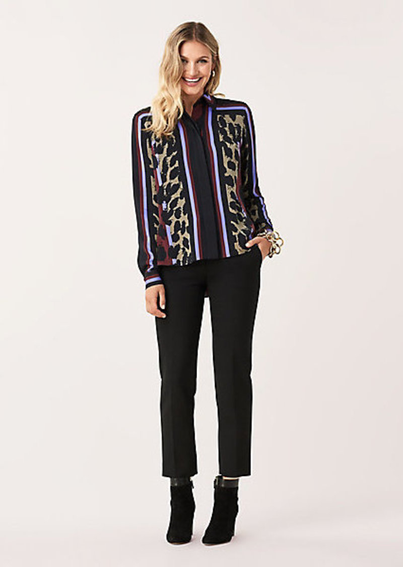 Diane Von Furstenberg Mai Stretch Georgette High-Low Shirt