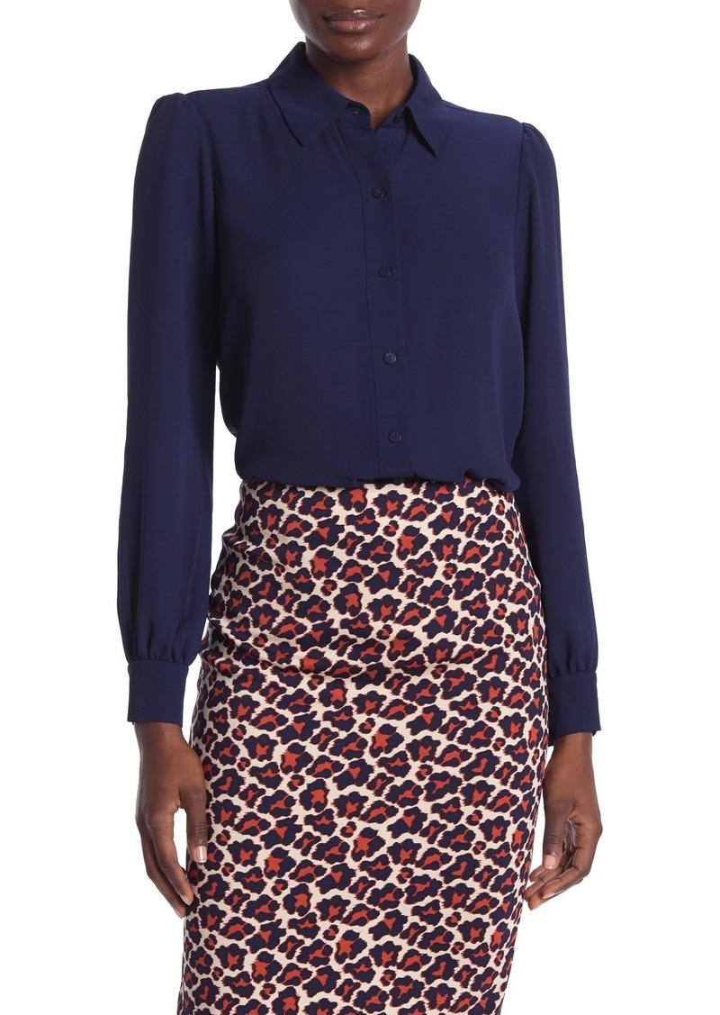 Diane Von Furstenberg Mariah Long Sleeve Shirt