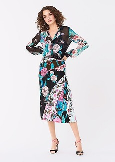 Diane Von Furstenberg Mariel Jacquard Midi Skirt
