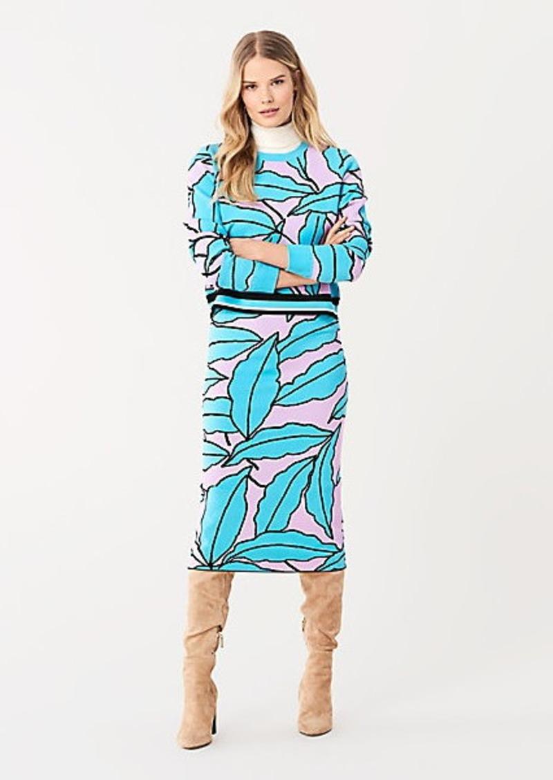 Diane Von Furstenberg Marilyn Intarsia Knit Fitted Skirt
