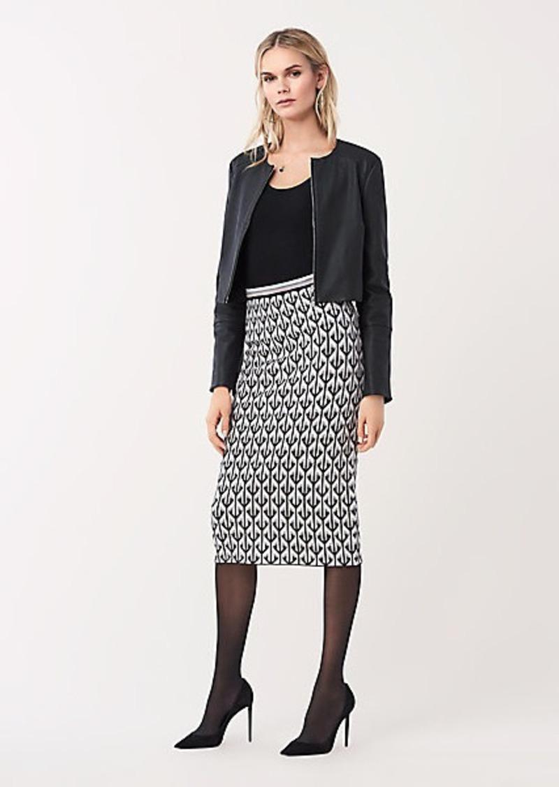 Diane Von Furstenberg Marilyn Jacquard Fitted Skirt