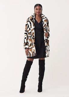 Diane Von Furstenberg Melanie Long Faux Fur Coat