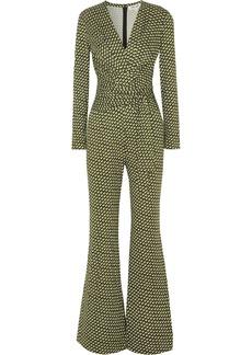 Diane Von Furstenberg Melinda Wrap-effect Printed Silk-jersey Jumpsuit