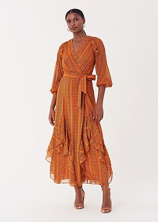 Diane Von Furstenberg Mercy Chiffon Maxi Wrap Dress