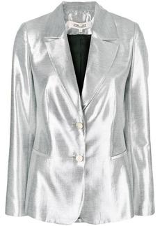 Diane Von Furstenberg metallic blazer
