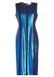 Diane Von Furstenberg Metallic Shift Dress
