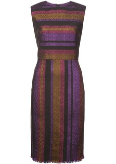 Diane Von Furstenberg metallic striped dress