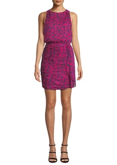 Diane Von Furstenberg Micah Silk Floral-Print Sleeveless Short Dress