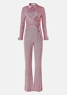 Diane Von Furstenberg Michele Silk-Jersey Jumpsuit
