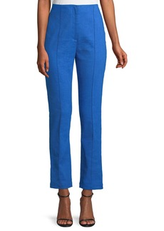 Diane Von Furstenberg Mid-Rise Linen Skinny Pants