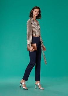 Mid-Rise Skinny Linen Pants