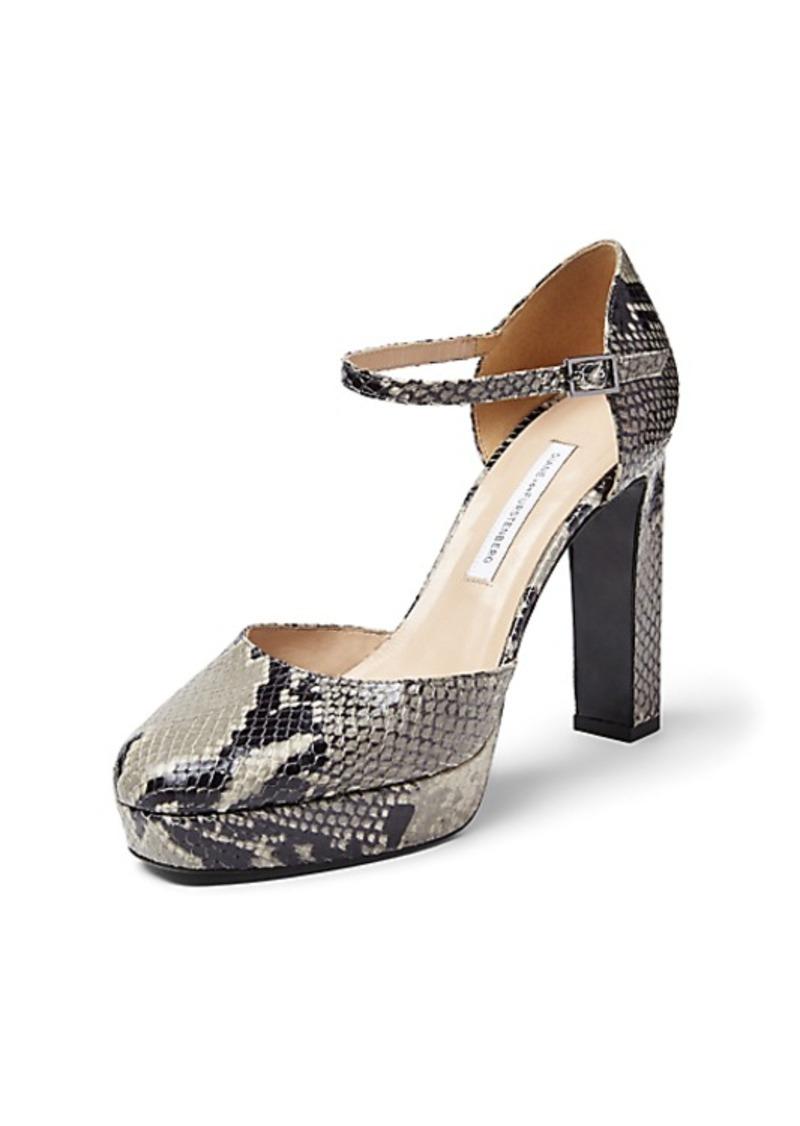 Diane Von Furstenberg Mika Python Mary Jane Platform Heel