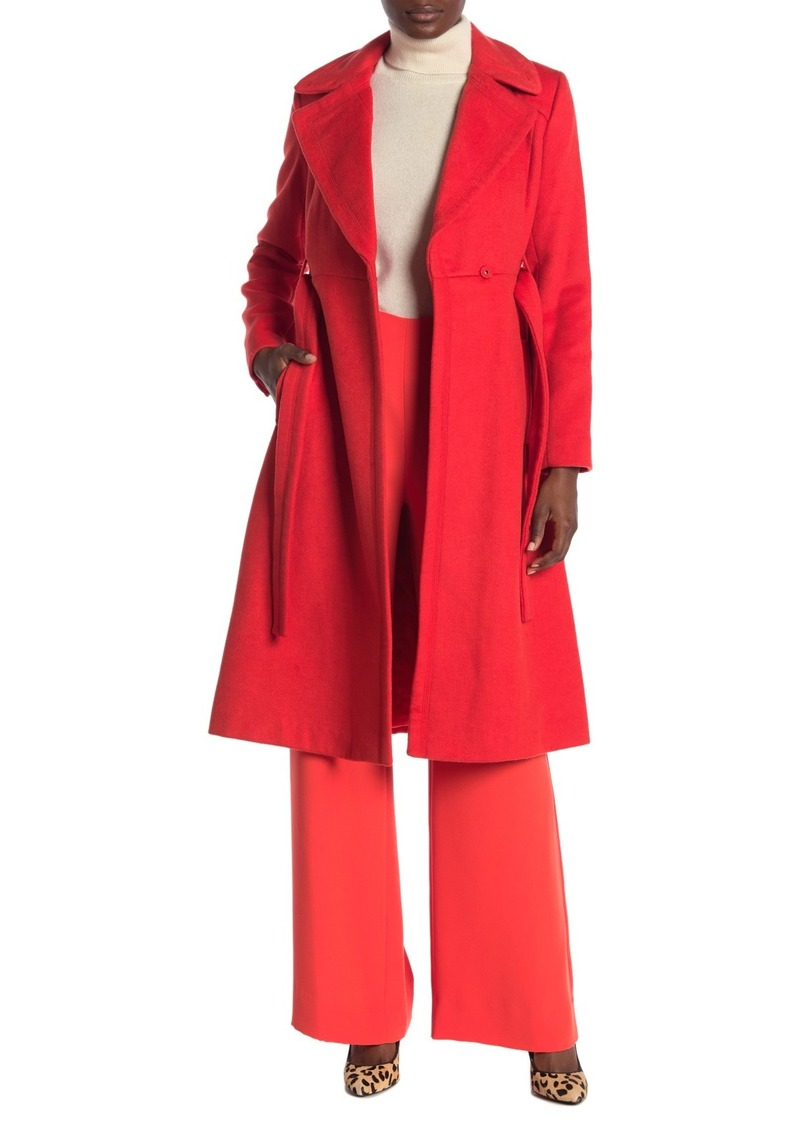 Diane Von Furstenberg Mikhalia Notch Lapel Wool Blend Coat