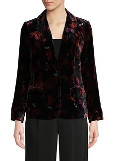 Diane Von Furstenberg Mikki Velvet Shawl Collar Jacket