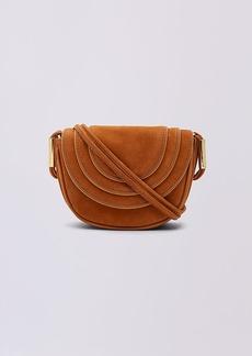 Diane Von Furstenberg Mini Nubuck Crossbody Saddle Bag