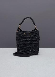 Diane Von Furstenberg Mini Raffia Bucket Bag