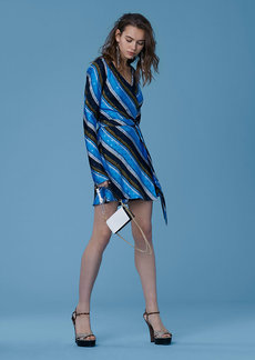 Mini Woven Wrap Dress