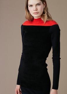 Mockneck Knit Midi Dress