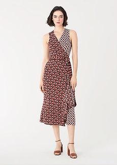 Diane Von Furstenberg Moira Stretch-Georgette Midi Wrap Dress