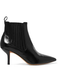 Diane Von Furstenberg Mollo Leather Ankle Boots