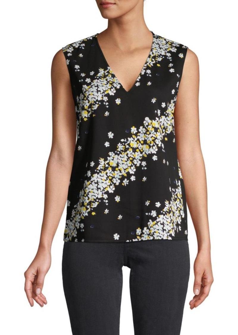 Diane Von Furstenberg Moody Floral-Print Sleeveless Top