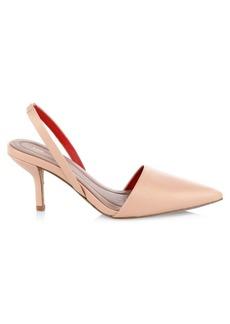 Diane Von Furstenberg Mortelle Leather Slingback Heels