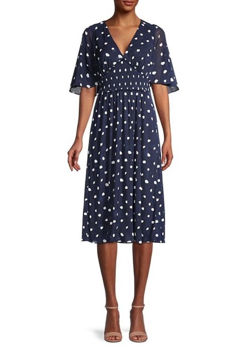 Diane Von Furstenberg Nala Palm Spotted Dress