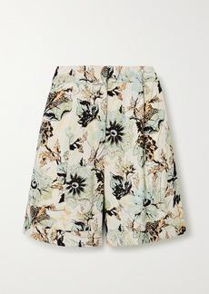 Diane Von Furstenberg Nathalie Floral-print Crepe Shorts