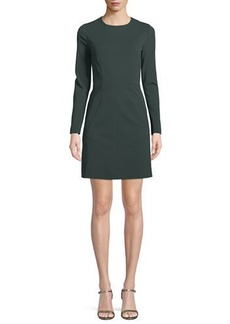 Diane Von Furstenberg New Capreena Long-Sleeve Jersey A-line Dress