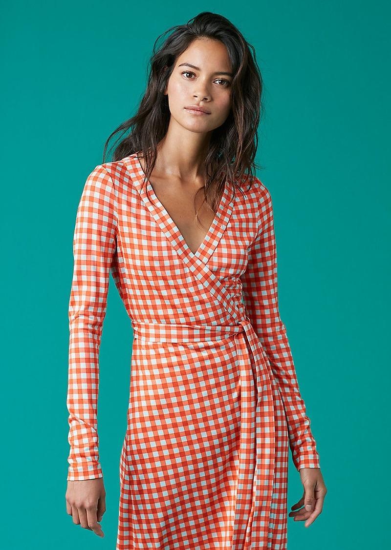 Diane Von Furstenberg New Julian Long Banded Wrap Dress