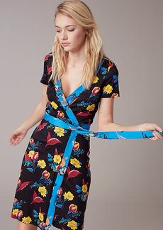 New Julian Short-Sleeve Wrap Dress