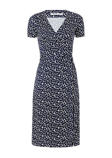 New Julian Two Short Sleeve Silk Jersey Wrap Dress