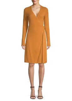 Diane Von Furstenberg Knitted Wrap Cashmere Dress