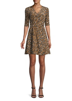 Diane Von Furstenberg New Savilla Silk Mini Dress