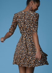 Diane Von Furstenberg New Savilla Woven Wrap Dress
