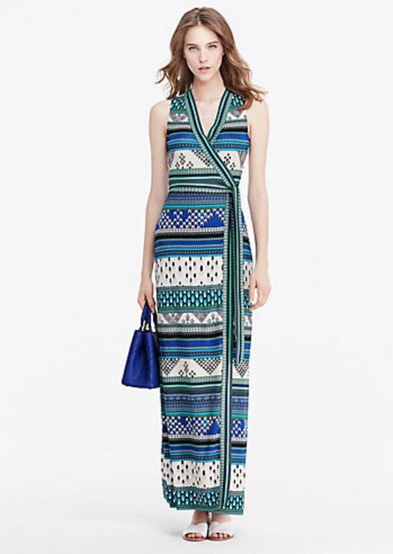 Diane Von Furstenberg New Yahzi Long Silk Jersey Maxi Wrap Dress