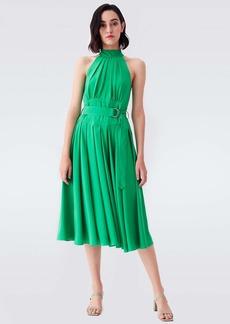 Diane Von Furstenberg Nicola Georgette-Blend Midi Dress in Kelly Green