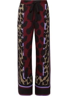 Diane Von Furstenberg Nik Printed Silk-blend Satin Wide-leg Pants